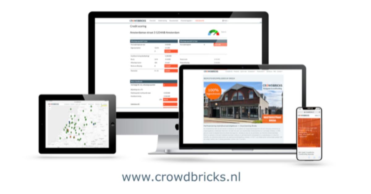 Financieringsproces eenvoudiger voor Crowdbricks