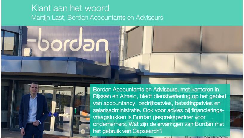 Klant aan het woord. Martijn Last, Bordan Accountants en Adviseurs