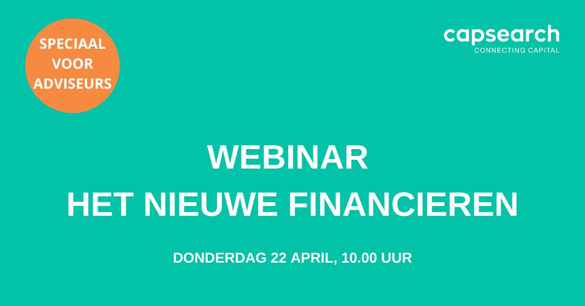 Webinar: Het nieuwe financieren | 22 april 2021